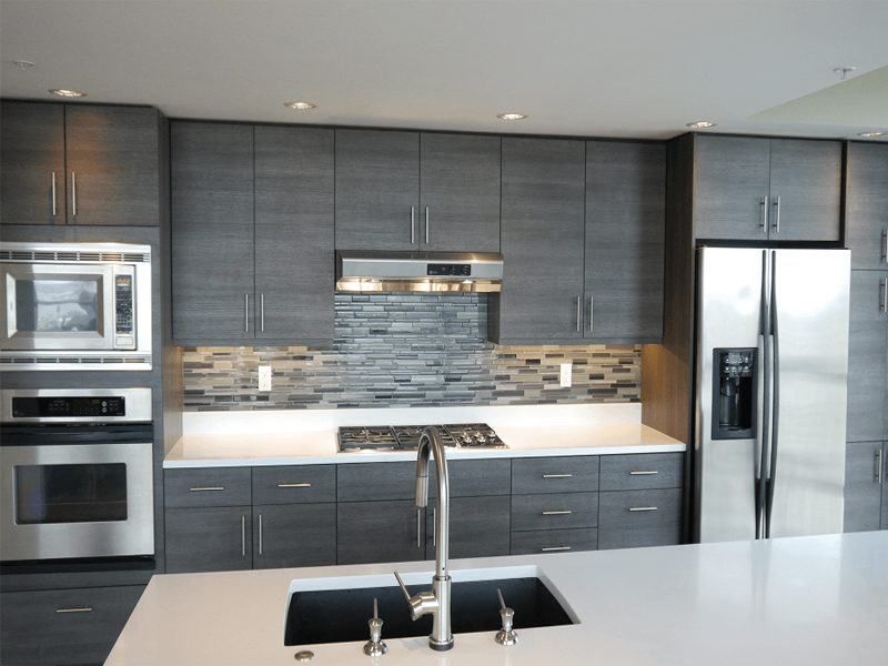 Grey Color Hpl Kitchen Cabinet Durable, Is Grey A Good Color For Kitchen Cabinets