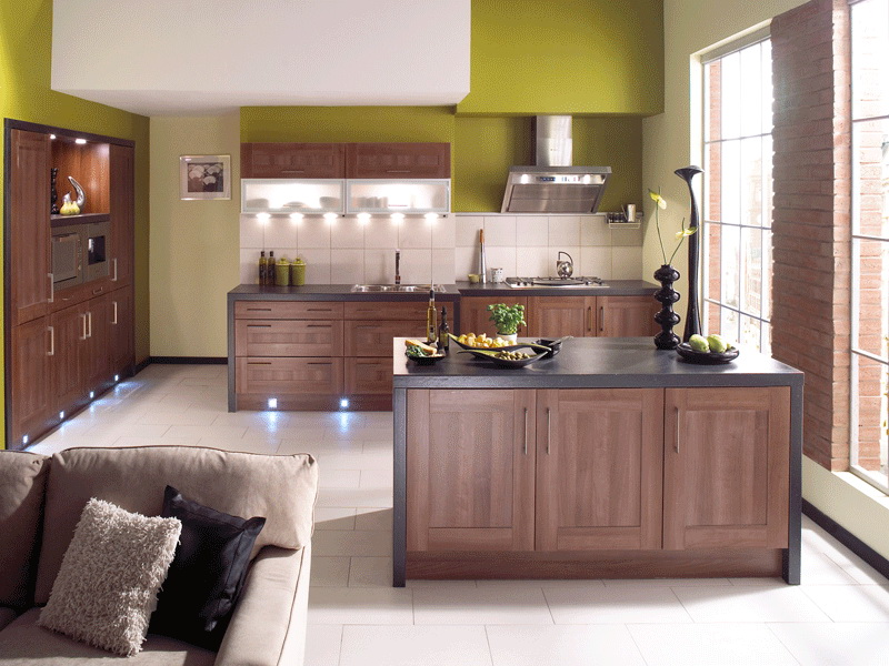Wooden Color Shaker Style Kitchen Cabinets New Design Supply
